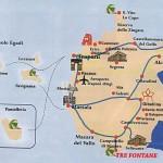 Mappa turistica Sicilia occidentale