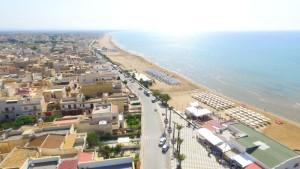 Vista aerea di TRE FONTANE  beach