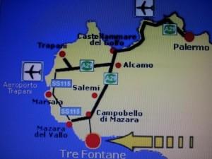 Mappa Sicilia occidentale